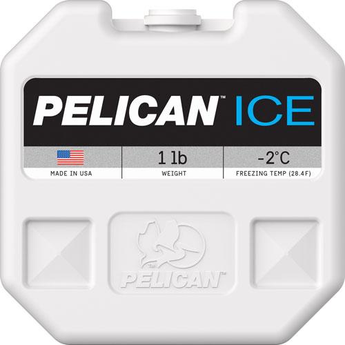 Pelican 1Ib Ice Pack White Reusable