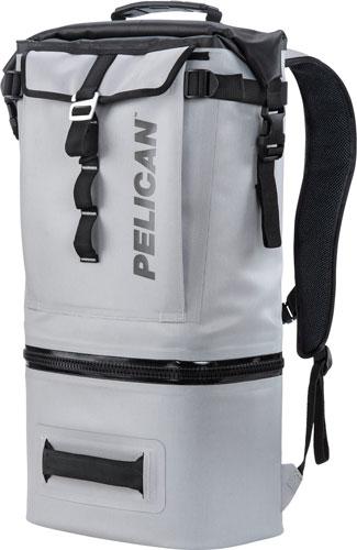 Pelican Soft Cooler Backpack Compression Molded Grey