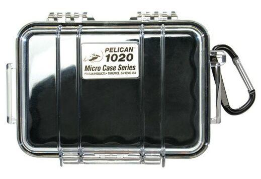 "PELICAN 1020 MICRO CASE CLEAR W/ BLACK LINER ID 5.3X3.5X1.7"""