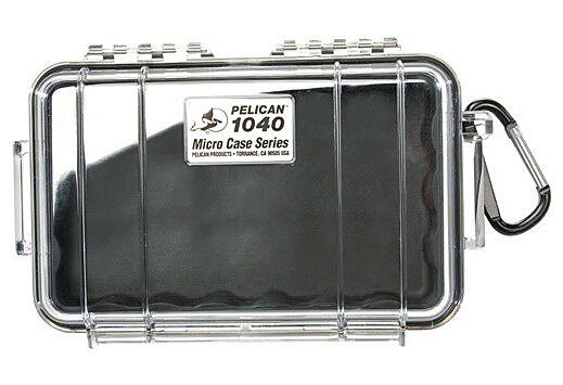 "PELICAN 1040 MICRO CASE CLEAR W/ BLACK LINER ID 6.5X3.9X1.8"""