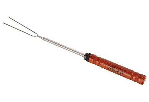 """COLEMAN TELESCOPING ROTISSERIE FORK EXTENDS 12"""" TO 48"""" WOOD"""
