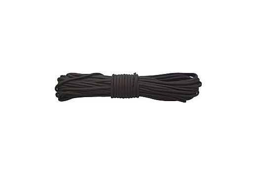 RED ROCK 550 PARACHUTE CORD 50 FEET BLACK