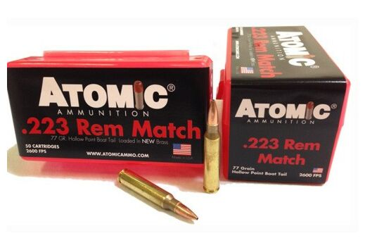 ATOMIC AMMO .223 REM. 77GR. MATCH SIERRA BTHP 50-PACK
