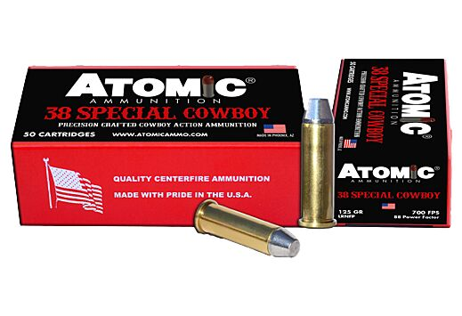 ATOMIC AMMO COWBOY .38SPL 125GR. LEAD RNFP 50-PACK