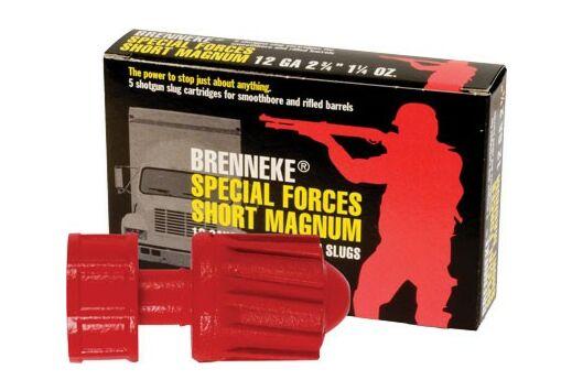 "BRENNEKE USA 12GA 2-3/4"" SPECIAL FORCES SHORT MAG 5PK."