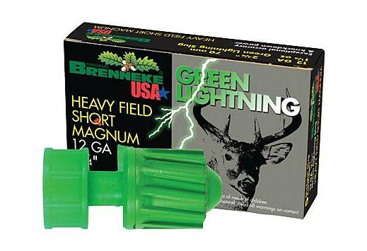 "BRENNEKE USA 12GA 2-3/4"" GREEN LIGHTNING 1-1/4OZ. SLUG 5PK."