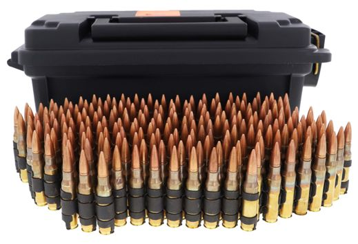 HSM AMMO .30-06 150GR. FMJ LINKED TRACER 40% 200RDS CAN