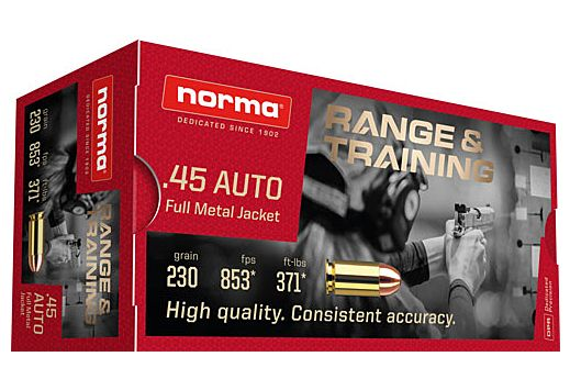 NORMA AMMO .45ACP 230GR. FMJ 50-PACK