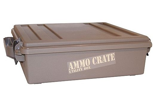 "MTM AMMO CRATE ACR5 DARK EARTH 4.50"" DEEP"