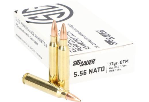 SIG AMMO 5.56 NATO 77GR. ELITE OPEN TIP MATCH 20-PACK