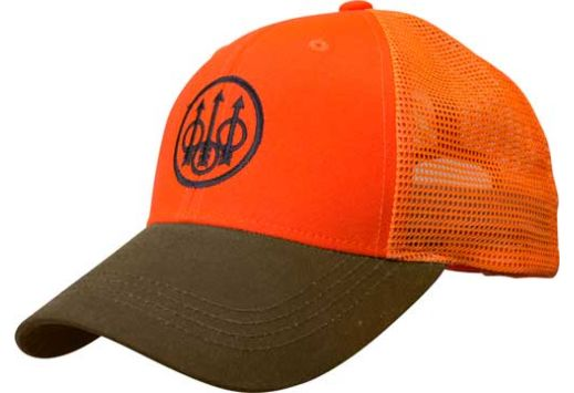 BERETTA CAP UPLAND TRUCKER BLAZE MESH BACK ORANGE/TOBACCO