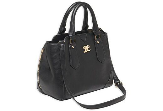 BULLDOG CONCEALED CARRY PURSE SATCHEL BLACK W/BLACK TRIM