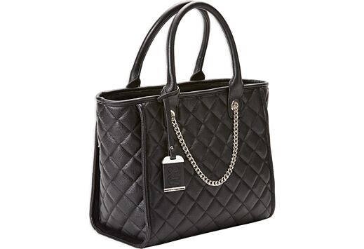 BULLDOG CONCEALED CARRY PURSE QUILTED TOTE STYLE BLACK