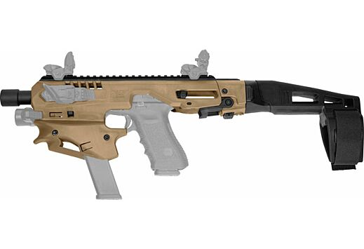 CAA MCK MICRO CONVERSION KIT GLOCK 9/40 W/BRACE TAN/FDE