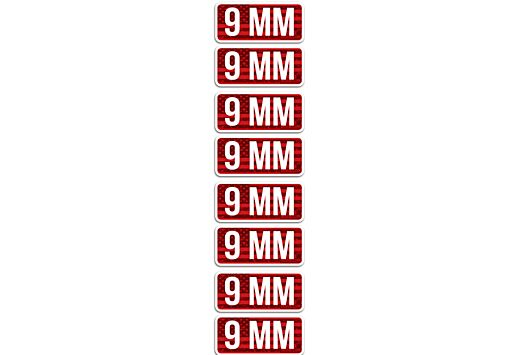 MTM AMMO CALIBER LABELS 9MM 8-PACK