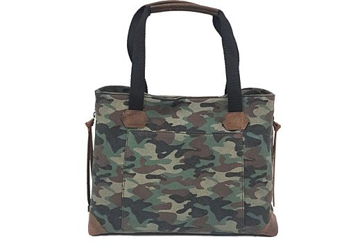 VC CONCEAL CARRY PURSE CANVAS CAMO TOTE STYLE