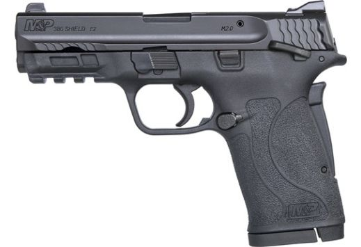 S&W SHIELD M2.0 M&P .380ACP EZ BLACKENED SS/BLK THUMB SAFETY