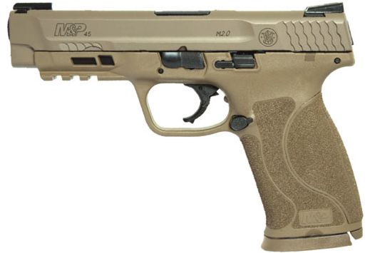 "S&W M&P9 M2.0 .45ACP 4.6"" TRUGLO TFX SIGHTS 10RD FDE"