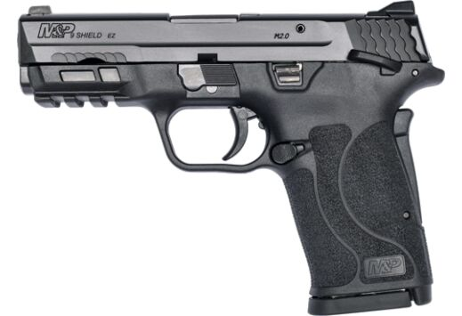 S&W SHIELD M2.0 M&P 9MM EZ BLACKENED SS/BLK THUMB SAFETY