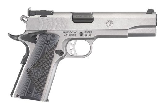 RUGER SR1911 TARGET 9MM 9-SHOT STAINLESS G10 GRIPS