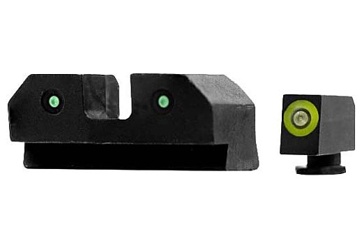 XS RAM GLOCK 42,43,43X,48 3-DOT GREEN TRITIUM SET