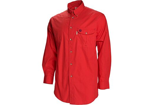 BERETTA SHOOTING SHIRT LARGE LONG SLEEVE COTTON RED<