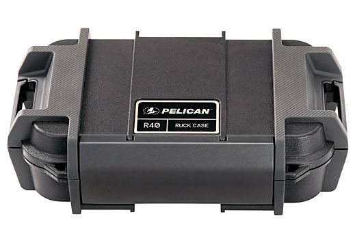 """PELICAN RUCK CASE LARGE R40 W/DIVIDER BLK ID 7.6""""X4.7""""X1.9"""