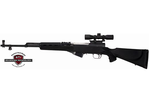 ADV. TECH. STOCK FOR SKS RIFLE MONTE CARLO BLACK SYNTHETIC