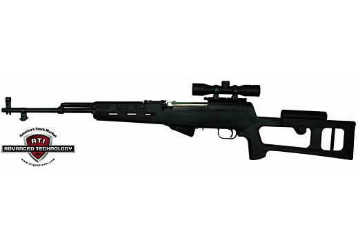 ADV. TECH. STOCK FOR SKS RIFLE FIBERFORCE STYLE BLACK SYN