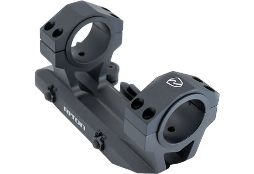 """RITON QUICK DETACH SCOPE MOUNT FOR 30MM AND 1"""" TUBE BLACK"""