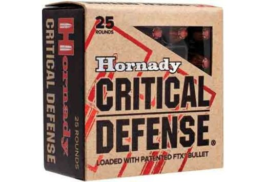 HORNADY AMMO CRITICAL DEFENSE 9MM LUGER 115GR. FTX 25-PACK