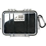 PELICAN 1020 MICRO CASE CLEAR W/ BLACK LINER ID 5.3X3.5X1.7""