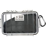 PELICAN 1040 MICRO CASE CLEAR W/ BLACK LINER ID 6.5X3.9X1.8""