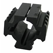 "TACSTAR RAIL MOUNT FOR 12GA. SHOTGUN TUBE 1.8"" LONG BLACK"