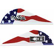 """BOHNING BLAZER VANES TRUE COLOR 2"""" AMERICAN FLAG 36PK"""