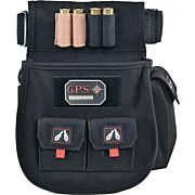 GPS DELUXE SHELL POUCH W/ TWIN POUCHES & WEB BELT BLK