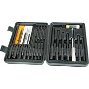 WHEELER ROLL PIN PUNCH MASTER SET 18-PUNCHES/1-HAMMER/CASE