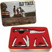 OLD TIMER KNIFE LAMINATE SHARP FINGER 3-PEICE TIN PROMO Q4