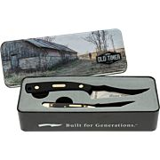 OLD TIMER KNIFE SHARPFINGER W/ CANOE SAW CUT HNDL PROMO Q4