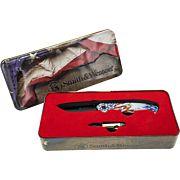 S&W KNIFE AMERICAN EAGLE & BULLET KNIFE GIFT TIN PROMO Q4