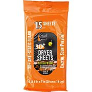 DDW DRYER SHEETS E1 3D+ NATURAL WOODS 15CT