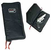 GPS PISTOL SLEEVE LARGE LOCKABLE ZIPPER BLACK NYLON