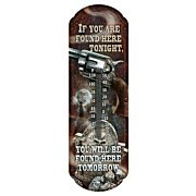 """RIVERS EDGE THERMOMETER """"FOUND HERE TONIGHT"""""""
