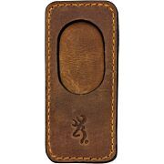 BG LEATHER BARREL REST W/MAGNETIC INSERT BROWN
