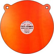 "AR-MOR 12"" AR500 STEEL GONG 1/2"" THICK STEEL ORANGE ROUND"