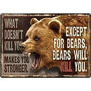 """RIVERS EDGE SIGN 12""""x17"""" """"WHAT DOESN'T KILL YOU"""""""