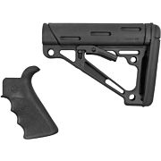 HOGUE AR-15 GRIP & OVERMOLDED COLLAPSIBLE STK MIL-SPEC BLK