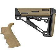 HOGUE AR-15 GRIP & OVERMOLDED COLLAPSIBLE STK COMMERCIAL FDE