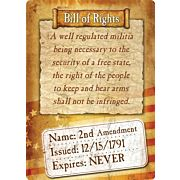 "RIVERS EDGE SIGN 12""x17"" ""BILL OF RIGHTS"""