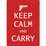 "RIVERS EDGE SIGN 12""x17"" ""KEEP CALM AND CARRY"""